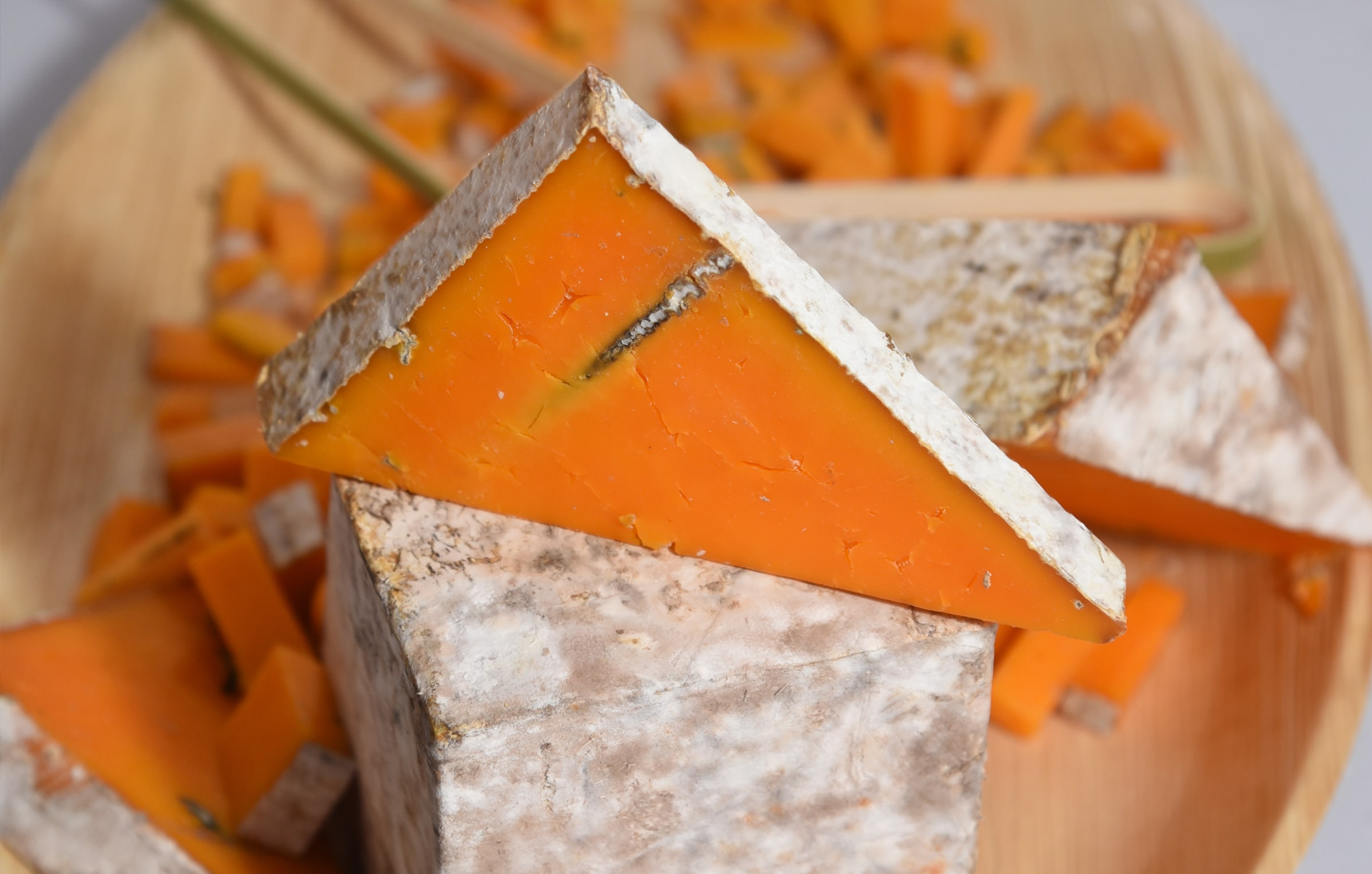 Stack of cheese at the Fete des Fromages